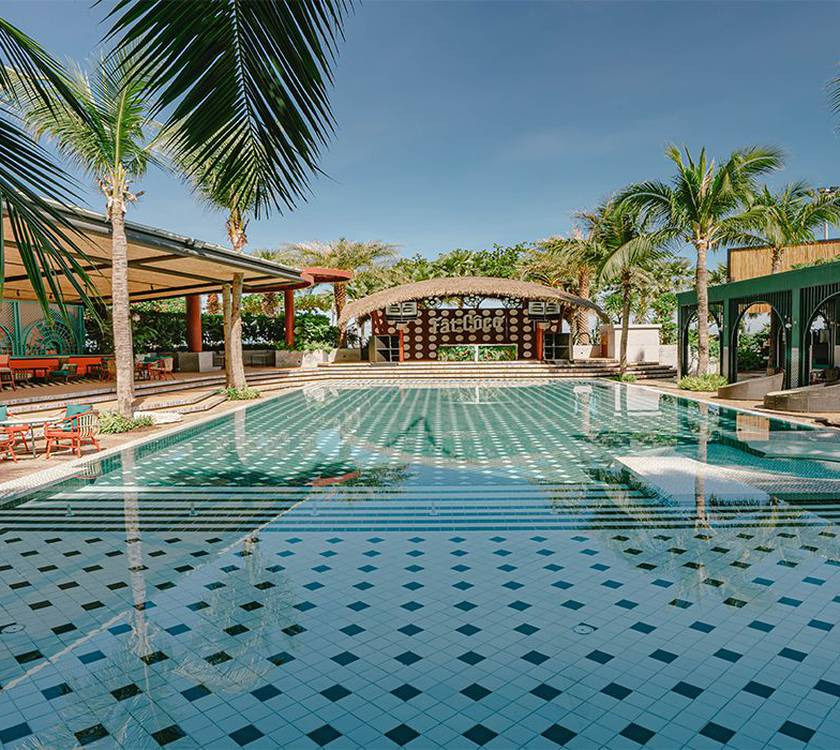 Swimming pool  a-one the royal cruise pattaya